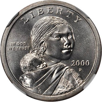 As I mentioned, Sacagawea Dollar Coins are of a brown-gold-bronze