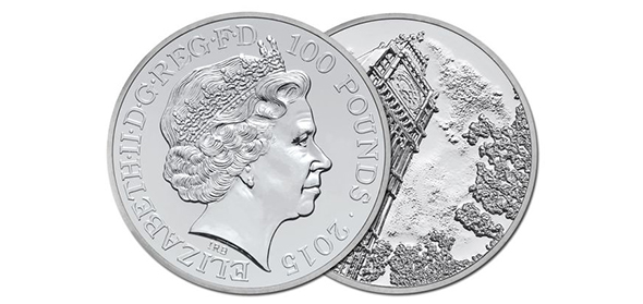 limited-edition Big Ben £100 silver coin