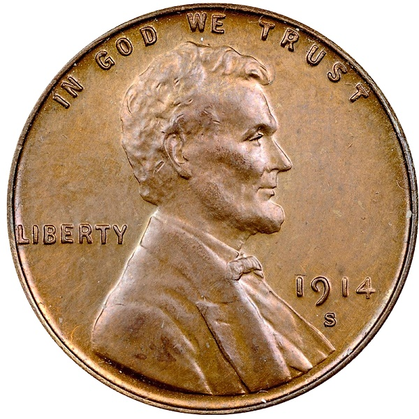 Counterfeit 1914-S Lincoln Cent