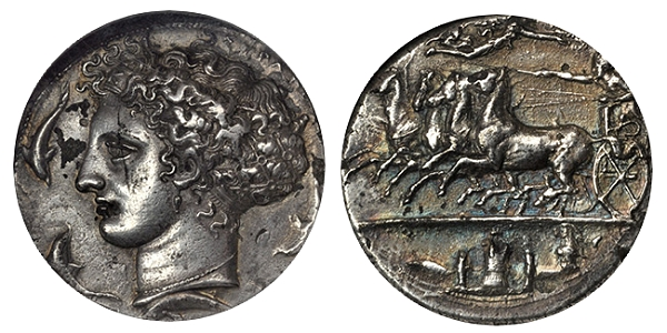 Decadrachm Signed by Kimon