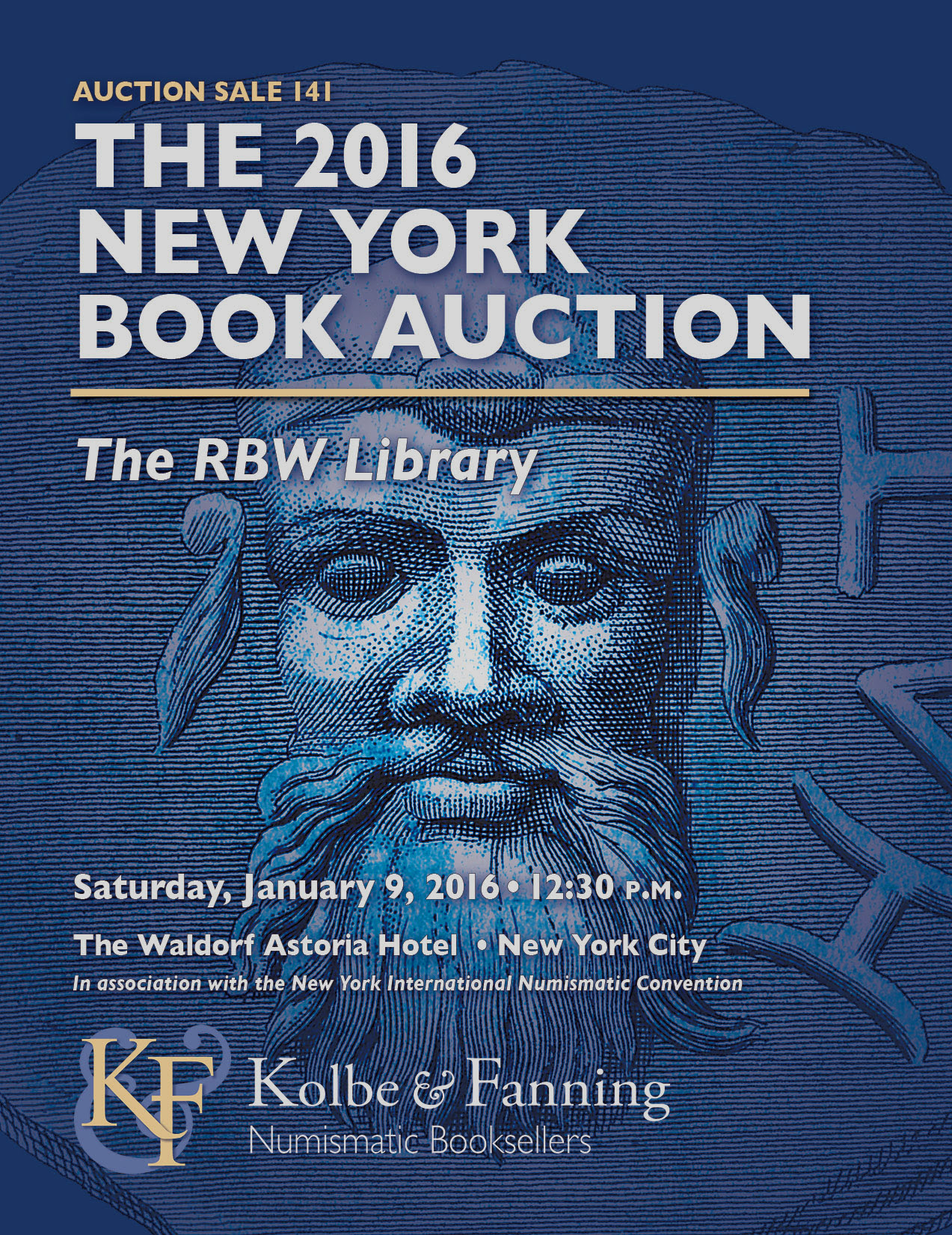 Kolbe & Fanning 2016 NY Book Auction flyer