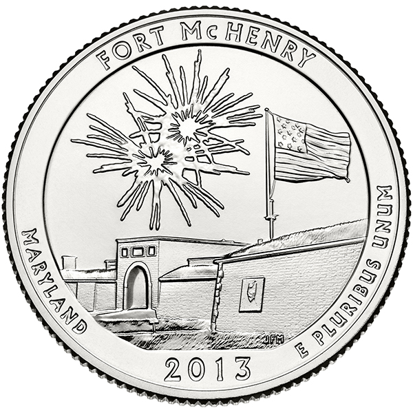 United States Mint 2013 America the Beautiful Quarters - Fort McHenry