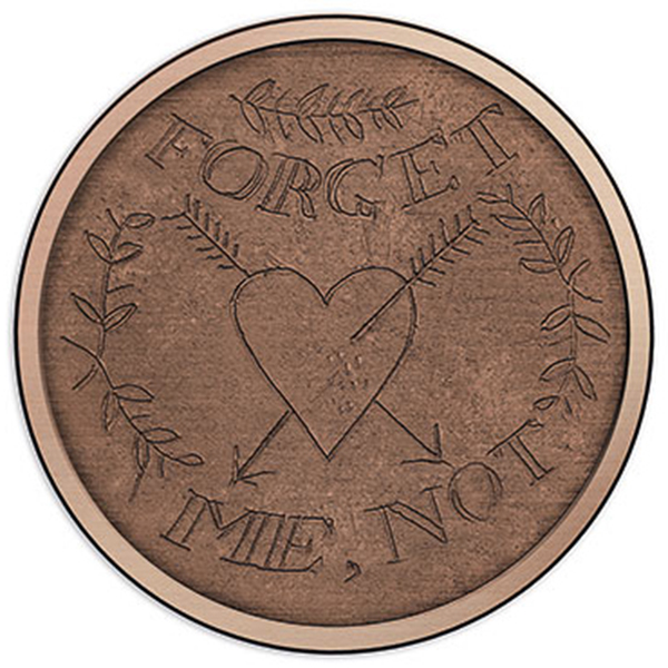 reverse, Australia 2016 Forget Me Not Convict Love Token $1 Copper Uncirculated Coin