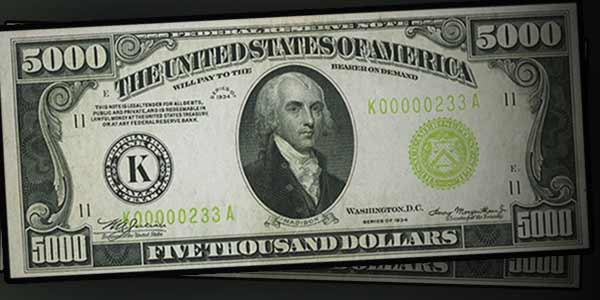 Heritage Visually Stunning 1934 5 000 Federal Reserve