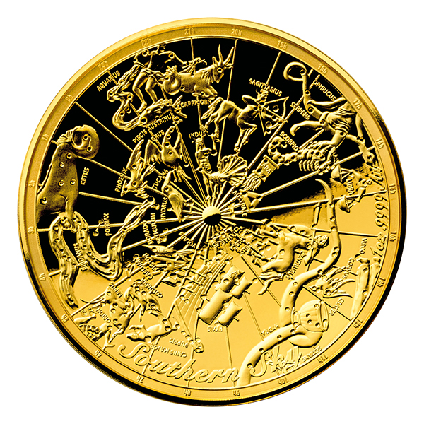 Australia 2017 Celestial Dome gold domed coin. Image courtesy Royal Australian Mint