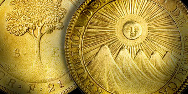 Gold coins of the Central American Republic (CAR) - Costa Rica