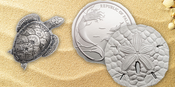 CIT silver coins: Turtle and Sand Dollar designs for 2017
