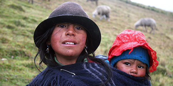 A mother and Child in Ecuador