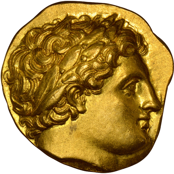 Ancient coins: Obverse - GREEK. KINGDOM OF MACEDON. Philip II. (King, 359-336 BC). Posthumous issue, struck 322-317 BC. AV Stater. Images courtesy Atlas Numismatics