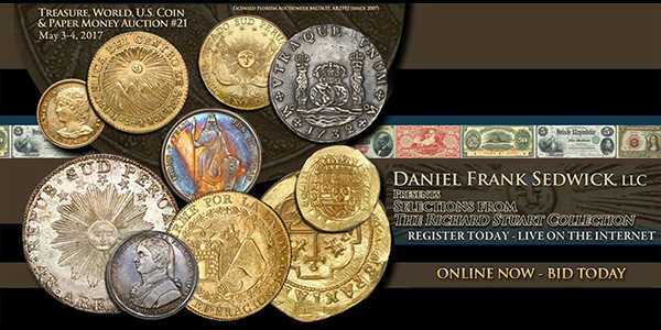 Daniel Frank Sedwick Treasure Auction