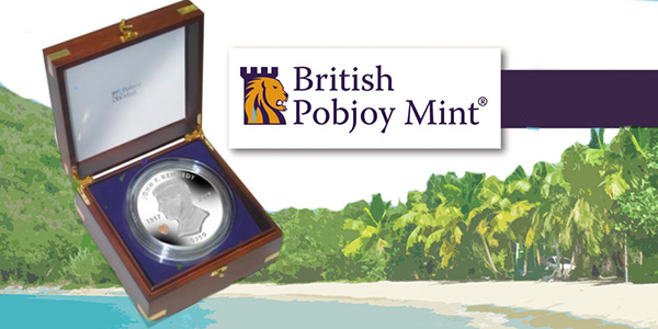 British Virgin Islands 2017 President John F. Kennedy Purple Diamonds Silver Coin. Image courtesy Pobjoy Mint