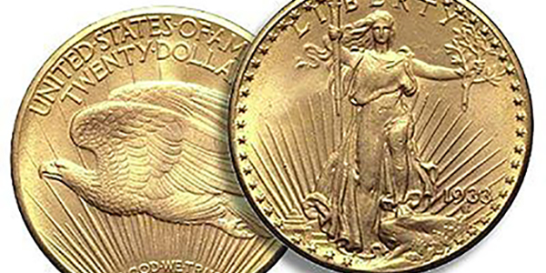 United States 1933 Saint-gaudens $20 Double Eagle gold coin