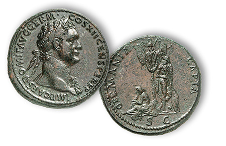 Domitian, Germania Capta AE Setertius