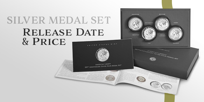 United States Mint 2017 Liberty Silver Medal Set