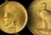 Stack's Bowers Offers Near-Gem 1908 Motto Indian Eagle in September Online Auction