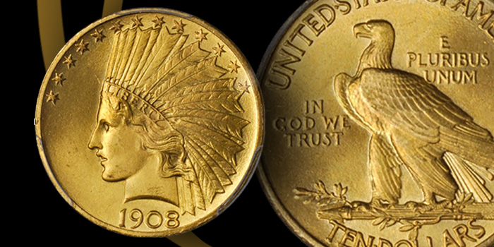 1908 $10 Indian Stack's Bowers