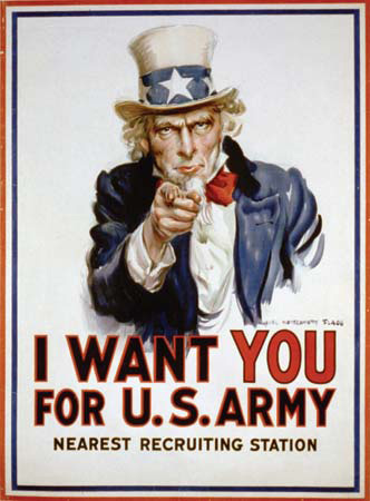 United States Army Draft Poster - Uncle Sam