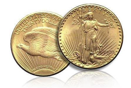 1933 Saint Gaudens $20 Gold Coin