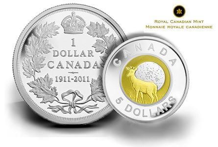 canadian coins, modern coins, bimetalic coins,coin collecting,world coins