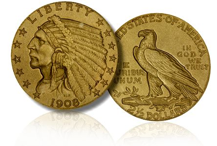 1908 Matte Proof $2.50 Gold Coin
