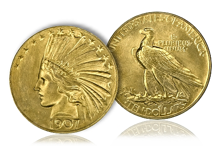 1907 Indian $10 Gold Coin
