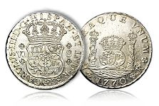"""The Mystique of the Spanish Colonial """"Pillar Dollar"""" Silver Coin"""