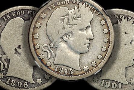 1894-S Barber Silver Quarter VF Uncertified