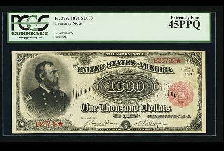 Reproduction 1891 $100 Dollars Treasury US Paper Money Currency Bill Copy Note