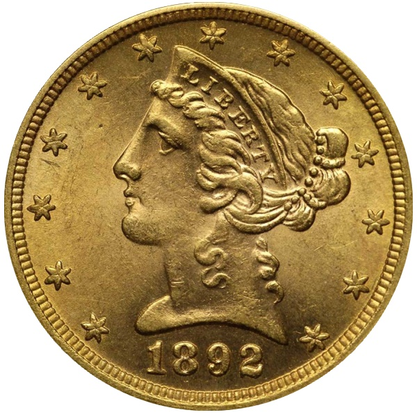 Counterfeit Gold Coin 1892 Half Eagle