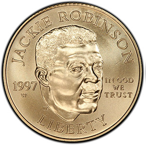1997-W Jackie Robinson gold $5 coin
