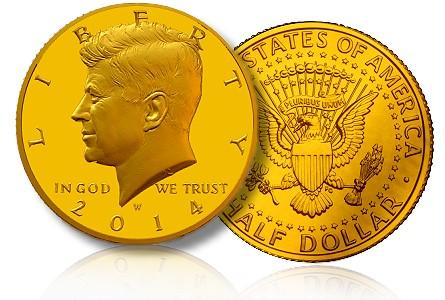 Rare Kennedy accented hair 50th anniversary coins P/&D