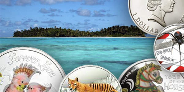 Coins from Tuvalu and the Perth Mint