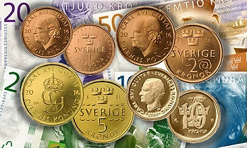 New Swedish coins and banknotes