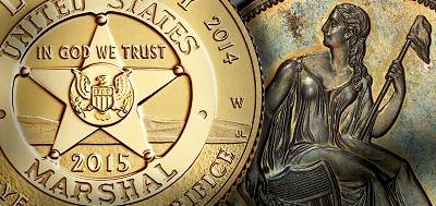 Coin Shows - US Mint to Sell New Marshals Service Coin at Long Beach Expo Plus Displays of Pogue Collection Coins and Simpson Gobrecht Dollars
