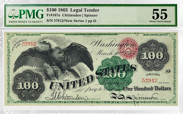 Fr. 167a $100 Legal Tender note