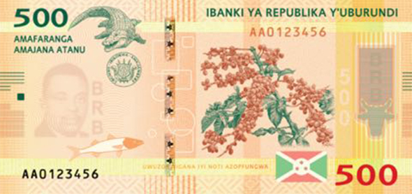 front of 500-BIF note, 2015