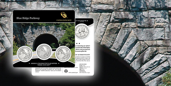 Blue Ridge Parkway America the Beautiful Quarters Three-Coin Set