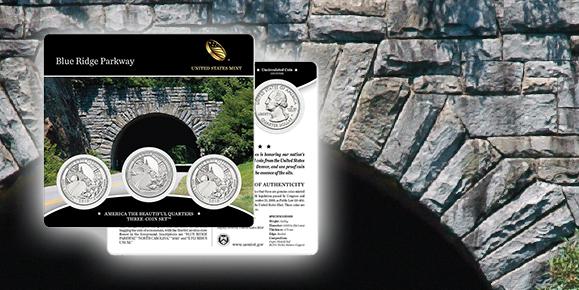 Blue Ridge Parkway America the Beautiful Quarters Three-Coin Set
