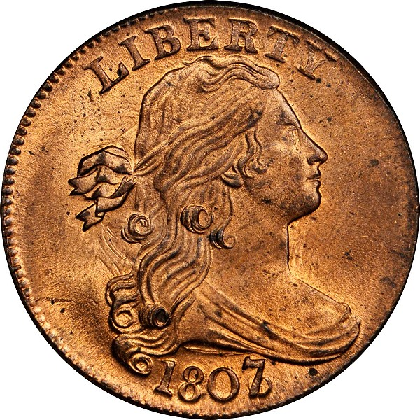 1807/6 Draped Bust Cent. S-273