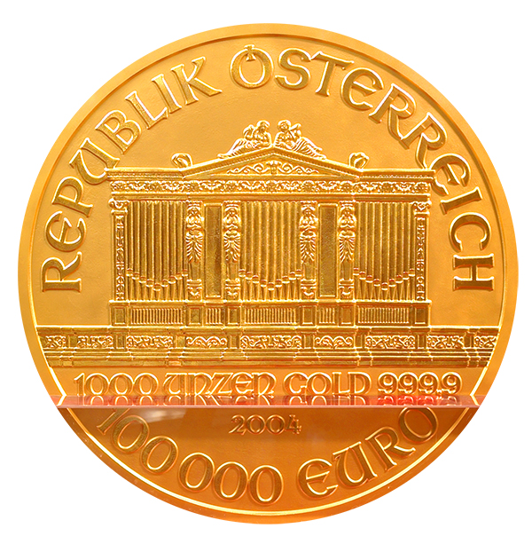 15 1,000-ounce versions of the popular Euro gold coin were produced