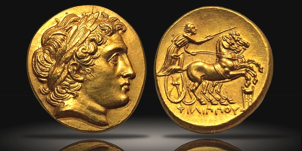 Alexander the Great Macedonia, Philip II, struck under Philip III; Kolophon, c. 322 BCE, Stater