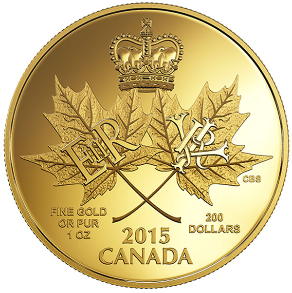 Canada 2015 A Historic Reign 200 Proof Gold Coin