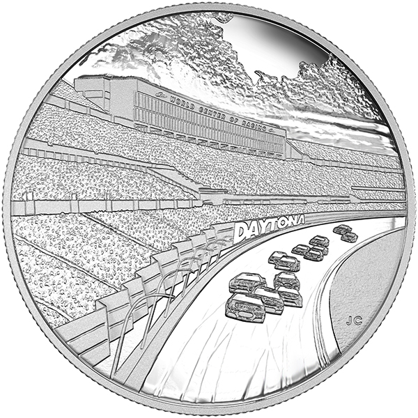Canada 2016 Daytona International Speedway Silver Medallion, Royal Canadian Mint