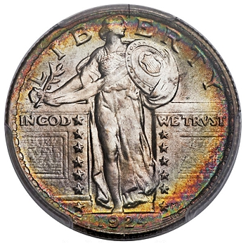 1924 25C MS68+ PCGS Secure. CAC