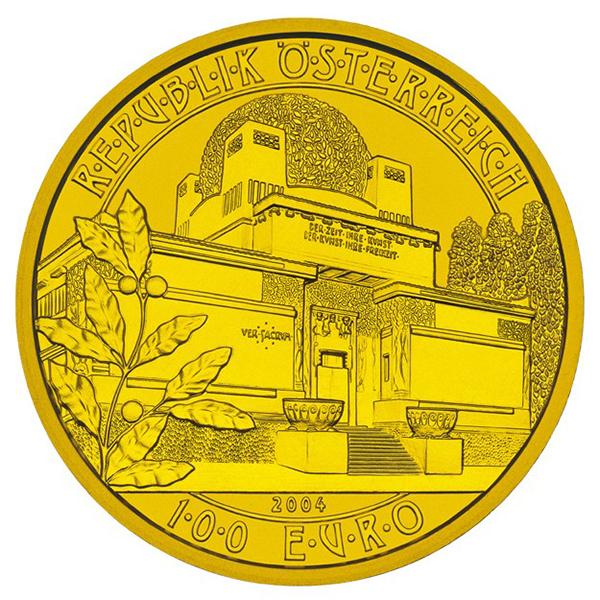obverse, Austria 2004 Vienna Secession 100 euro gold coin
