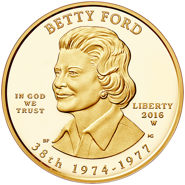 obverse, United States 2016 Betty Ford First Spouse $10 Gold Coin