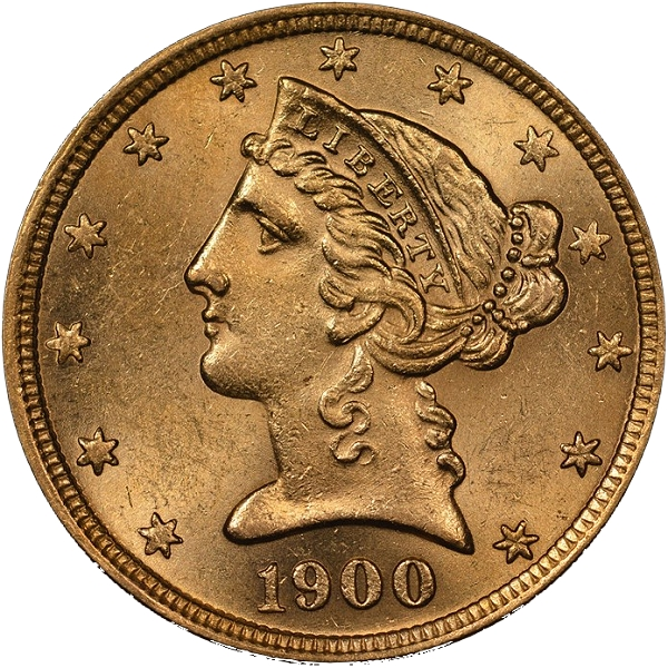 Counterfeit Coin Detection 1900 S 5 Half Eagle