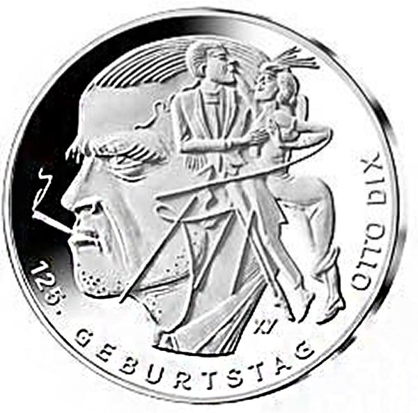 Germany 2016 Otto Dix 20 Euro Silver Coin