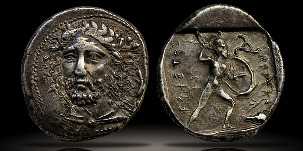 Ancient coin profiles - LYCIA. Dynasts of Lycia, Perikle (c.375-360 BCE), Silver Stater