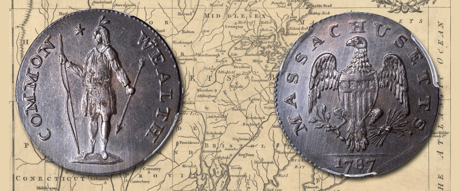 Choice Mint State 1787 Massachusetts cent. Images courtesy Stack's Bowers